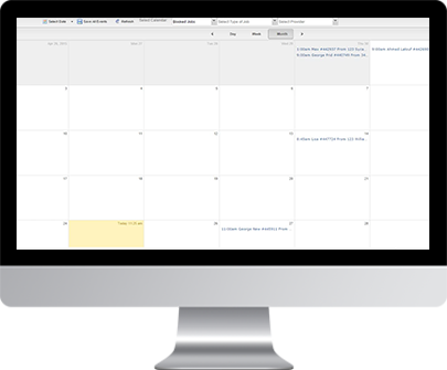 Moving jobs calendar